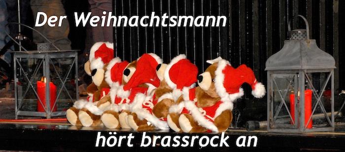 Das Motto des Konzertes - auch Weihnachtsmänner wollen mal etwas Anderes hören