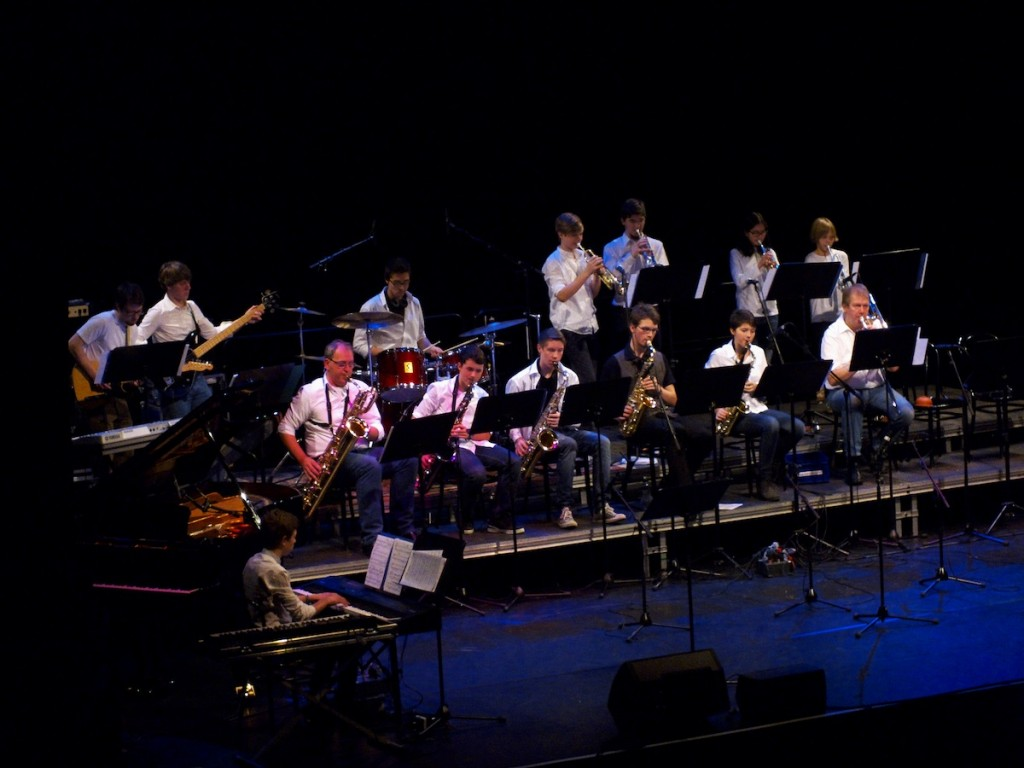 Unsere Big-Band in der Bundeskunsthalle 2012Foto: Lisa Breig