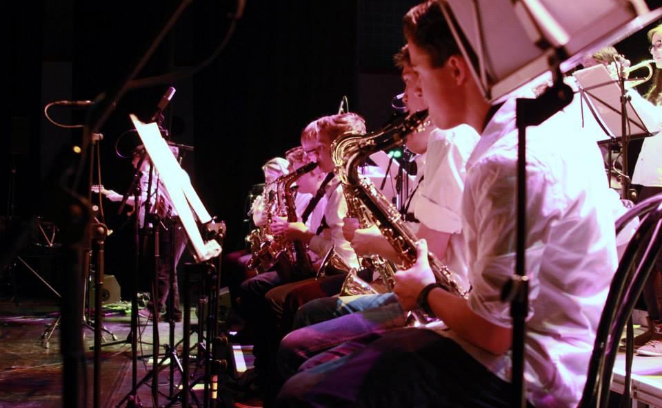 Ein Teil der Saxophon-Section - wir waren gut besetzt. Foto: Arnulf Marquart-Kuron © 2013