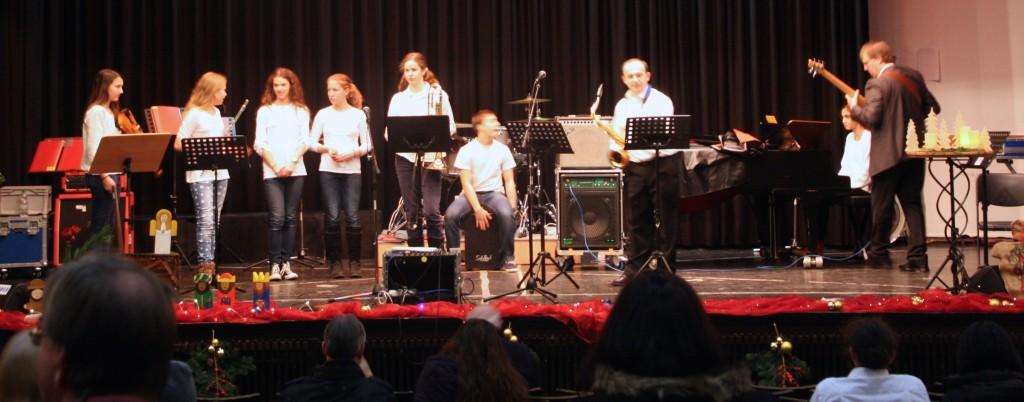 Die aktuelle Mittelstufen-Big-Band der siebten Klasse. Foto: Orchester